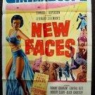 NEW FACES 1-Sheet Movie Poster EARTHA KITT 1954 ORIGINAL CinemaScope MEL BROOKS