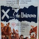 X the UNKNOWN Original 1 Sheet POSTER Dean Jagger HAMMER FILMS Leo McKern SCI-FI