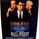 WALL STREET Original ROLLED Poster MICHAEL DOUGLAS Charlie Sheen OLIVER STONE 87