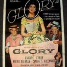 MARGARET O'BRIEN Original AUTOGRAPH Signed in Person GLORY 1-Sheet MOVIE POSTER