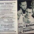 EDWARD G ROBINSON The AMAZING DR. CLITTERHOUSE Photo DAYBILL Humphrey Bogart '38