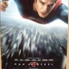 MAN OF STEEL Original SUPERMAN Movie POSTER Henry Cavill DOUBLE SIDED Clark Kent