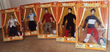 NSYNC Collectible MARIONETTE Set Justin Timberlake N SYNC JC Chasez LANCE BASS
