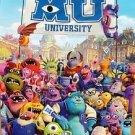 MONSTERS UNIVERSITY Original MOVIE POSTER Mike SULLY Inc PIXAR Disney ROLLED '12