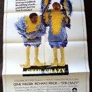 STIR CRAZY Original 1-Sheet Movie POSTER Richard Pryor GENE WILDER Prison Film