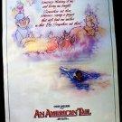 AN AMERICAN TAIL Original Rolled Movie Poster STEVEN SPIELBERG Fievel in Bottle
