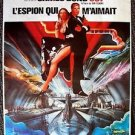 JAMES BOND 007 The SPY WHO LOVED ME French POSTER Roger Moore BARBARA BACH 1977