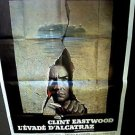 ESCAPE FROM ALCATRAZ Original CLINT EASTWOOD Huge FRENCH Poster FRANCE Prison 79