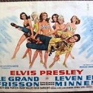 ELVIS PRESLEY Foreign LIVE A LITTLE, LOVE A LITTLE Original BELGIUM Poster 1968