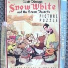 SNOW WHITE and the SEVEN DWARFS Disney 1938 Whitman PUZZLE Box VINTAGE Art WALT