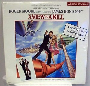 JAMES BOND a VIEW TO A KILL Roger Moore TANYA ROBERTS LP Record GRACE JONES MIP