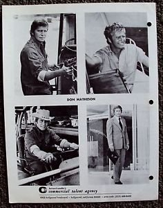 DON MATHESON Signed AUTOGRAPH Contract LAND OF THE GIANTS Composite PHOTO Agency