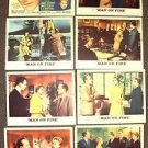 MAN ON FIRE Lobby Card Set BING CROSBY Inger Stevens E.G. MARSHALL Loew's Inc.
