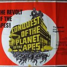 Conquest PLANET OF THE APES Quad BRITISH Poster UK Roddy McDowall ORIGINAL 1972