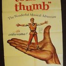 TOM THUMB Original GEORGE PAL 1-Sheet Movie POSTER Russ Tamblyn M.G.M.1958 MGM