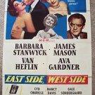 EAST SIDE, WEST SIDE Original BARBARA STANWYCK  1-Sheet POSTER Ava Gardner  1949