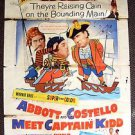 Abbott and Costello Meet Captain Kidd ORIGINAL 1-Sheet POSTER Bud & Lou 1952