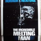 RICK BAKER The INCREDIBLE MELTING MAN one-sheet MOVIE Poster HORROR Skeleton '77
