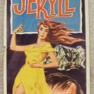 DAUGHTER OF DR. JEKYLL Original INSERT Poster JOHN AGAR Gloria Talbott 1957 film
