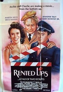 ROBERT DOWNEY JR Original RENTED LIPS Movie POSTER Jennifer Tilly PHIL ROBERTS