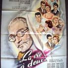 La vie à deux  FRENCH Poster Danielle Darrieux Brasseur HUGE Great ARTWORK Art
