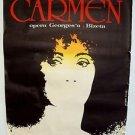 CARMEN Original POLISH Poster JULIA MIGENES  Plácido Domingo BIZETA Opera 1984
