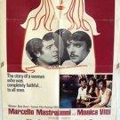 JEALOUSY ITALIAN STYLE Original 1-SHEET Poster MARCELLO MASTROIANNI Monica Vitti