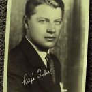 RALPH FORBES  Photo MAX FACTOR Studios HOLLYWOOD 1920's Facsimile Autograph Orig