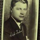 RALPH FORBES  Photo MAX FACTOR Studios HOLLYWOOD 1920's Facsimile Autograph Orig