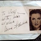 ANNE FRANCINE Original  SIGNED in PERSON Autograph Page MAME Harper Valley PTA
