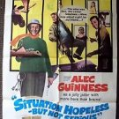 SITUATION HOPELESS BUT NOT SERIOUS 1-Sheet POSTER Alec Guinness MIKE CONNORS '65