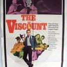 KERWIN MATHEWS The VISCOUNT 1-Sheet POSTER James Bond Type Agent 1967 Original