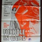 FOXHOLE IN CAIRO Original 1-Sheet POSTER James Robertson Justice DESERT WAR 1960