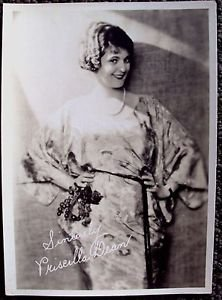 PRISCILLA DEAN original MAX FACTOR Studios HOLLYWOOD 1920's Facsimile PHOTO