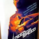 AARON PAUL Original NEED FOR SPEED Rolled MOVIE Poster BREAKING BAD Race Car