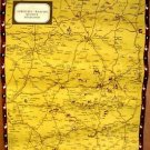 FRANCE Road Map Linen-Backed FRENCH Limousin MARCHE Quercy PERIGORD 50's Castles