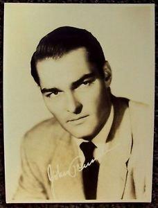 JOHN RUSSELL Original Facsimile Autograph PHOTO 40's LAWMAN Western Peter Brown