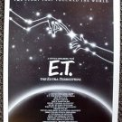 E.T. The EXTRA TERRESTRIAL ARTWORK for ET Poster DREW BARRYMORE Steven Spielberg