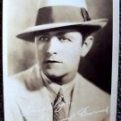 EDMUND BURNS Original MAX FACTOR Studios HOLLYWOOD Facsimile Autograph PHOTO 20s
