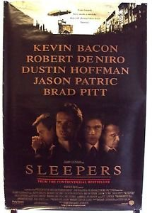 SLEEPERS Original Double Sided Movie POSTER Brad Pitt KEVIN BACON Robert De Niro