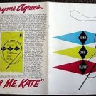 KISS ME KATE Original  Theatre Program ANNE JEFFREYS Keith Andes BROADWAY  N.Y.
