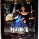 MAVERICK Original ROLLED Movie POSTER Jodie Foster JAMES GARNER Mel Gibson WEST