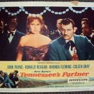 Rhonda Fleming TENNESSEE'S PARTNER John Payne LOBBY CARD Ronald Reagan ORIGINAL