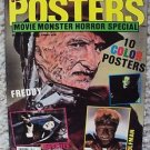 MONSTER Poster MAGAZINE Freddy Krueger EXORCIST Lon Chaney BORIS KARLOFF DRACULA