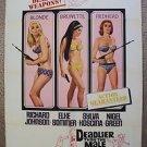 DEADLIER THAN THE MALE Original 1-SHEET Movie POSTER Elke Sommer JAMES BOND Era