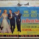 HIGH SOCIETY Movie BELGIUM Poster GRACE KELLY Bing Crosby FRANK SINATRA BRUSSELS