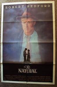 ROBERT REDFORD The NATURAL Original 1-Sheet Movie POSTER Baseball GLENN CLOSE 84