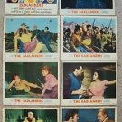 ALAN LADD The BADLANDERS Original LOBBY CARDS  ERNEST BORGNINE Katy Jurado PHOTO