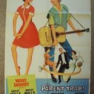 HAYLEY MILLS The PARENT TRAP Original Walt DISNEY Movie POSTER 1-Sheet R1968 ART