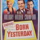 BORN YESTERDAY Original 1-Sheet JUDY HOLLIDAY Movie POSTER William Holden OSCAR!